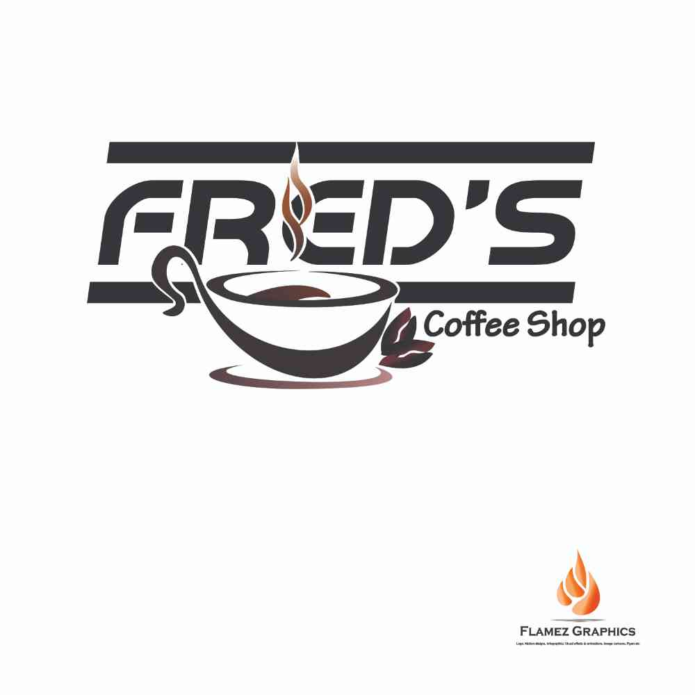 Branding of Freds Coffee Shop picture